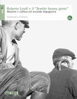"""Domenico Ferraro, Roberto Leydi e il """"Sentite buona gente"""""""